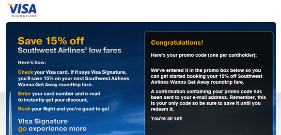 Southwest airlines discounts coupon codes