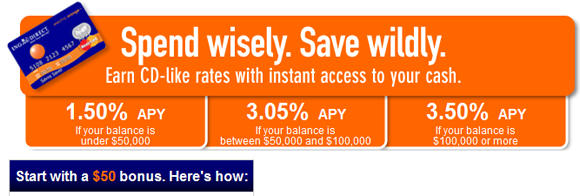 ING Direct Electric Orange $50 Sign Up Bonus