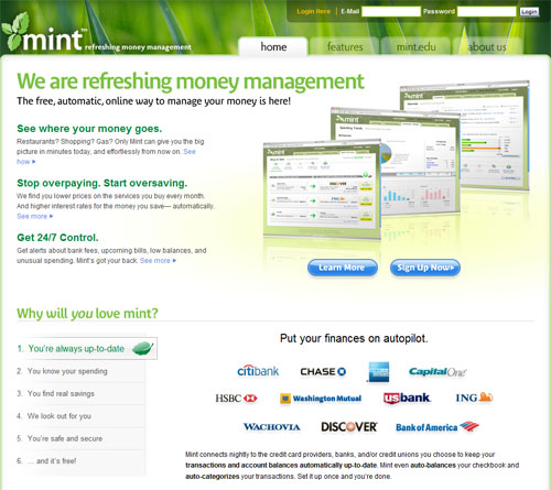 Mint.com Free Personal Finance Web-App