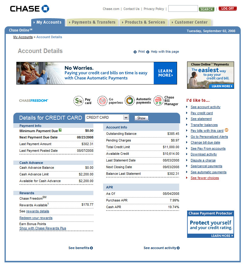 Gallery for chase online banking Hause on line