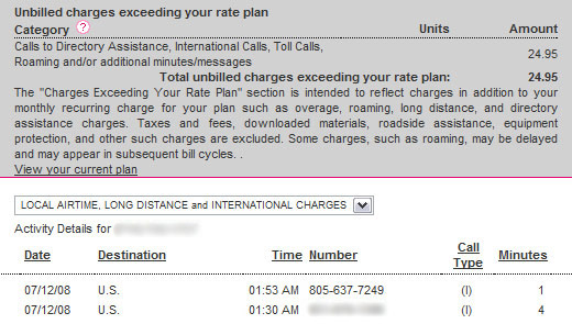 T-Mobile international roaming charges.