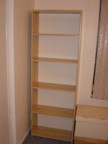 Sweet! Empty bookcase.