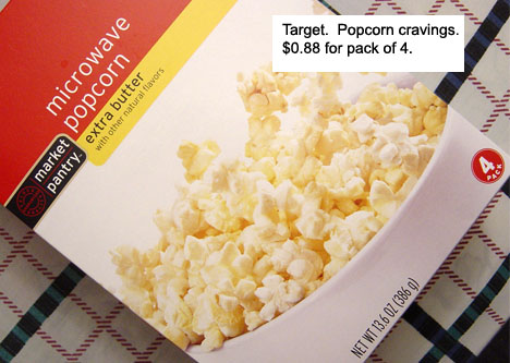 Target.  Popcorn Cravings.  $0.88 for pack of 4.